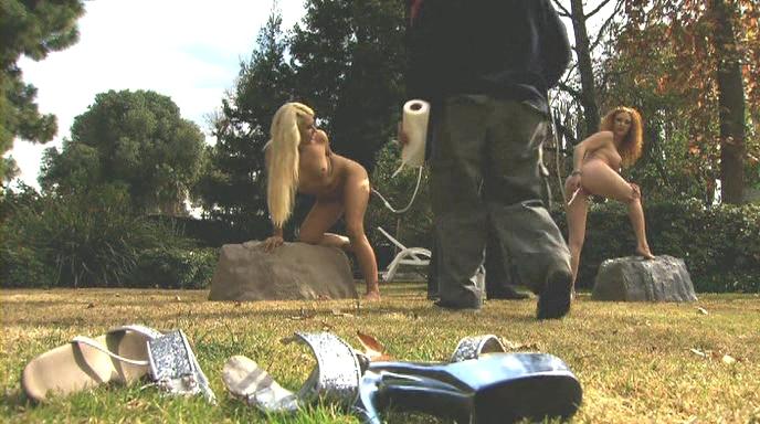 Nude men hard erect