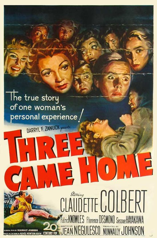 Three Came Home movie