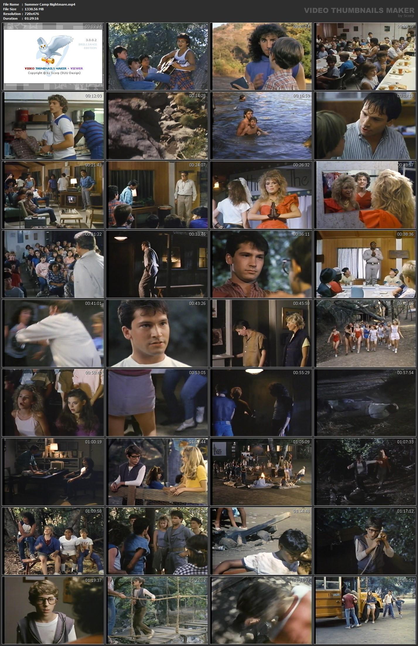 11 x 17 movie poster - summer camp nightmare
